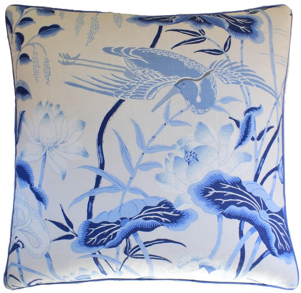 Ryan Studio Lotus Garden Porcelain Pillow