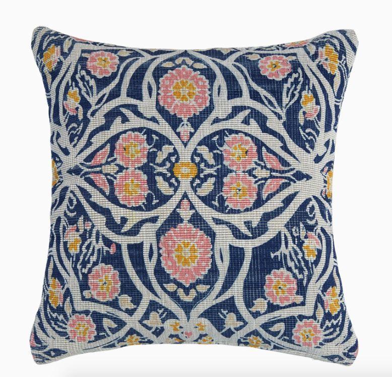 John Robshaw Avela Indigo Outdoor Pillow by John Robshaw