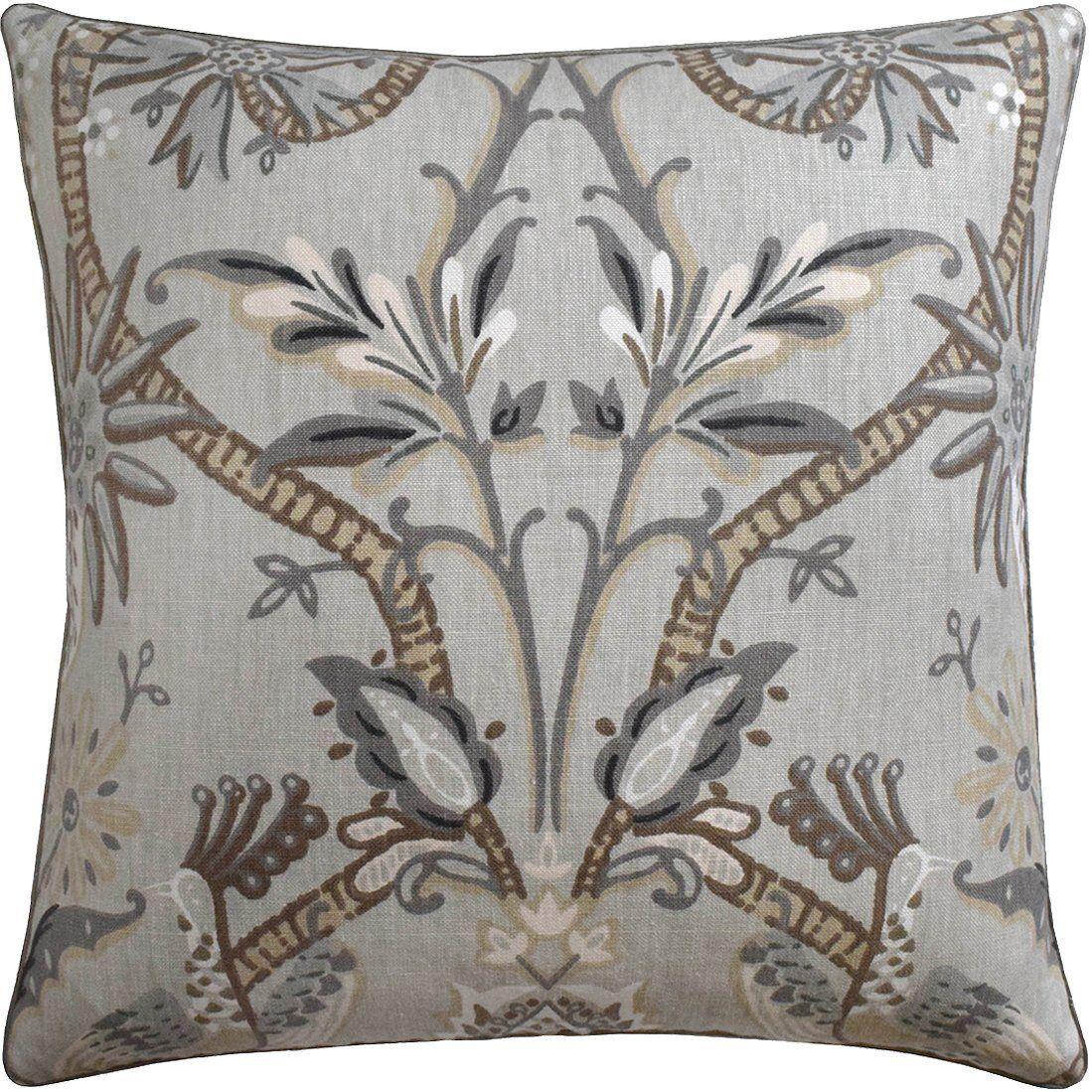 Ryan Studio Peacock Garden Grey Pillow