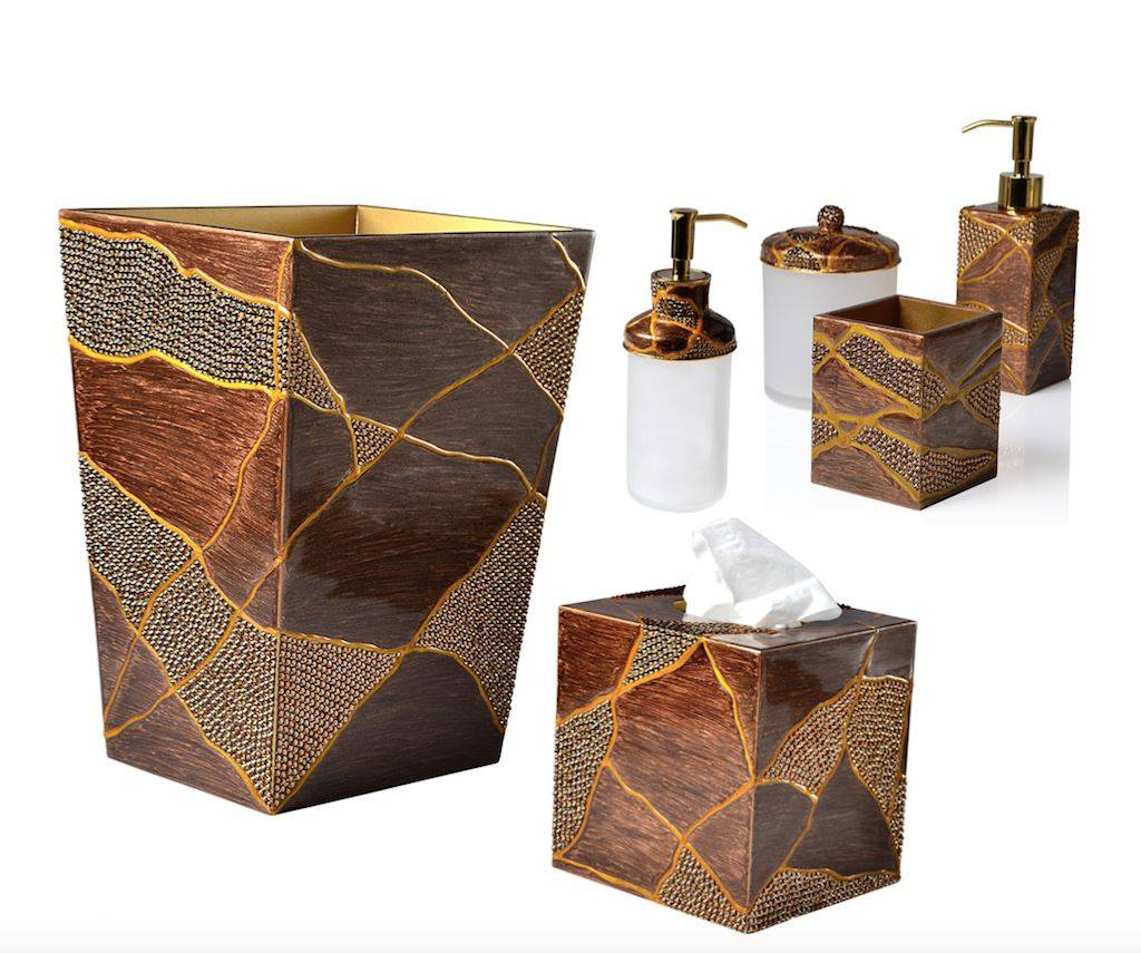Mike + Ally Genesis Bronze Bath Accessories by Mike + Ally