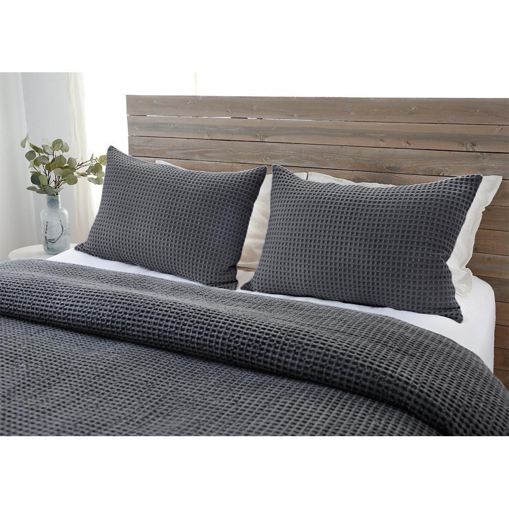 Pom Pom at Home Zuma Charcoal Blankets & Shams