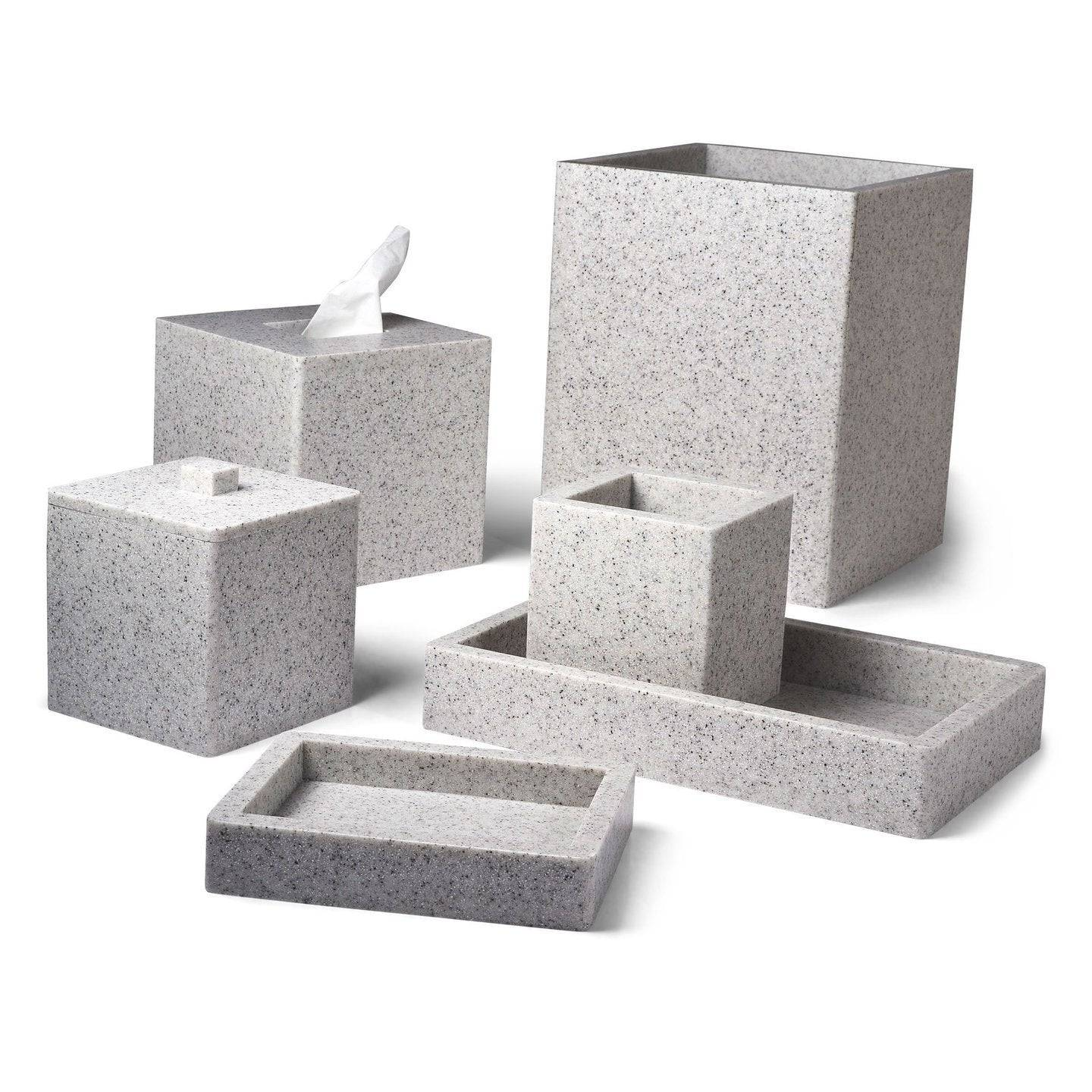 Mike + Ally Contours Stone Bath Accessories by Mike + Ally