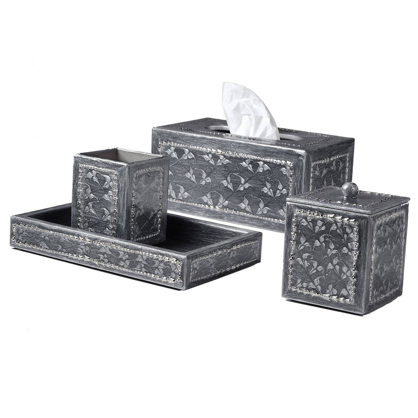 Mike + Ally Fiona Platinum Bath Accessories by Mike + Ally