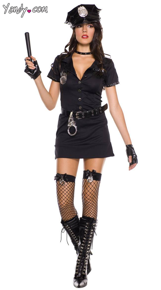 Music Legs Sexy Dirty Cop Costume by Music Legs, Black, Size S/M / Police Officer Costume, Police Costume - Yandy.com