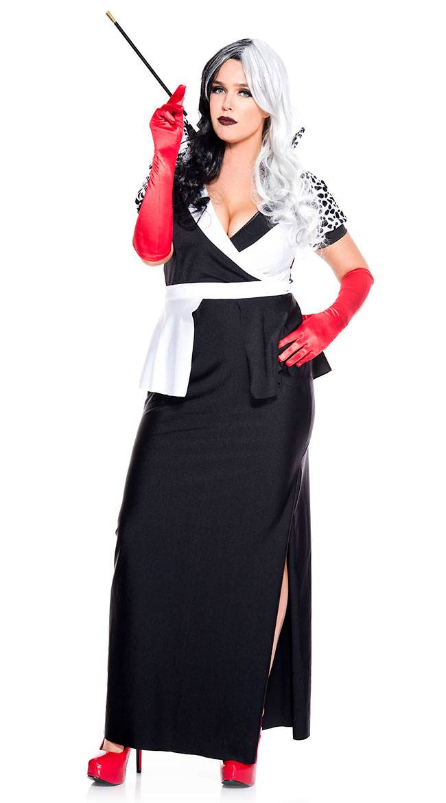 Music Legs Plus Size Cruel Villain Costume by Music Legs, Size 1X/2X - Yandy.com