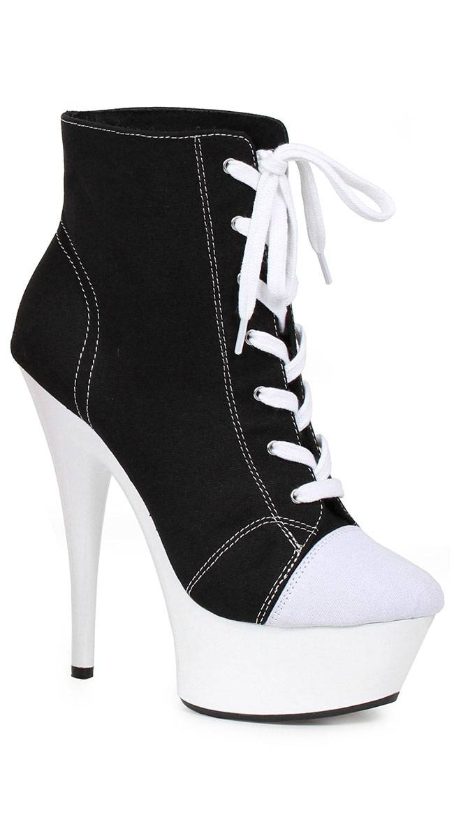 "Ellie Shoes 6"" Sneaker Booties by Ellie Shoes, Black, Size 6 - Yandy.com"