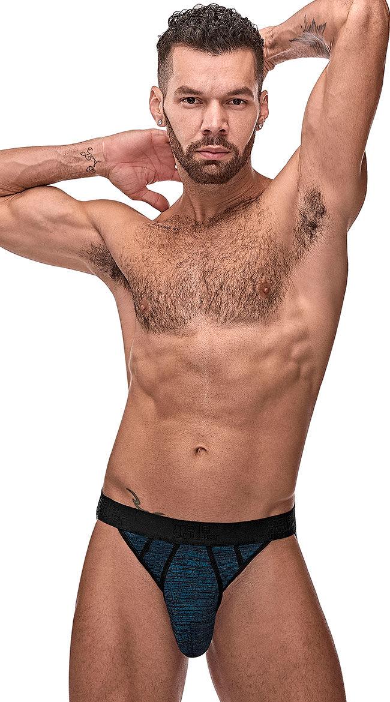Male Power Men's Twists And Turns Sport Jock by Male Power, Blue, Size L/XL - Yandy.com