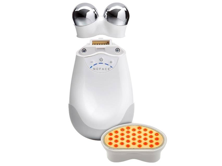 NuFACE Trinity Facial Trainer with Trinity Wrinkle Reducer Attachment
