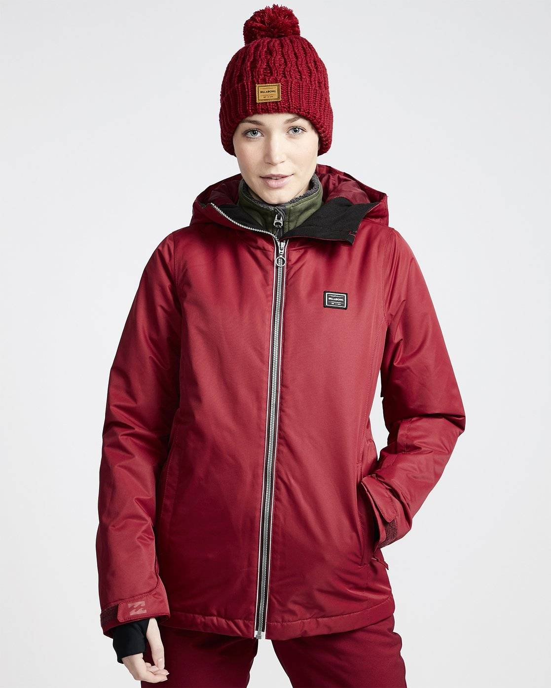 Billabong Women's Sula Snow Jacket  - Red - Size: Extra Small