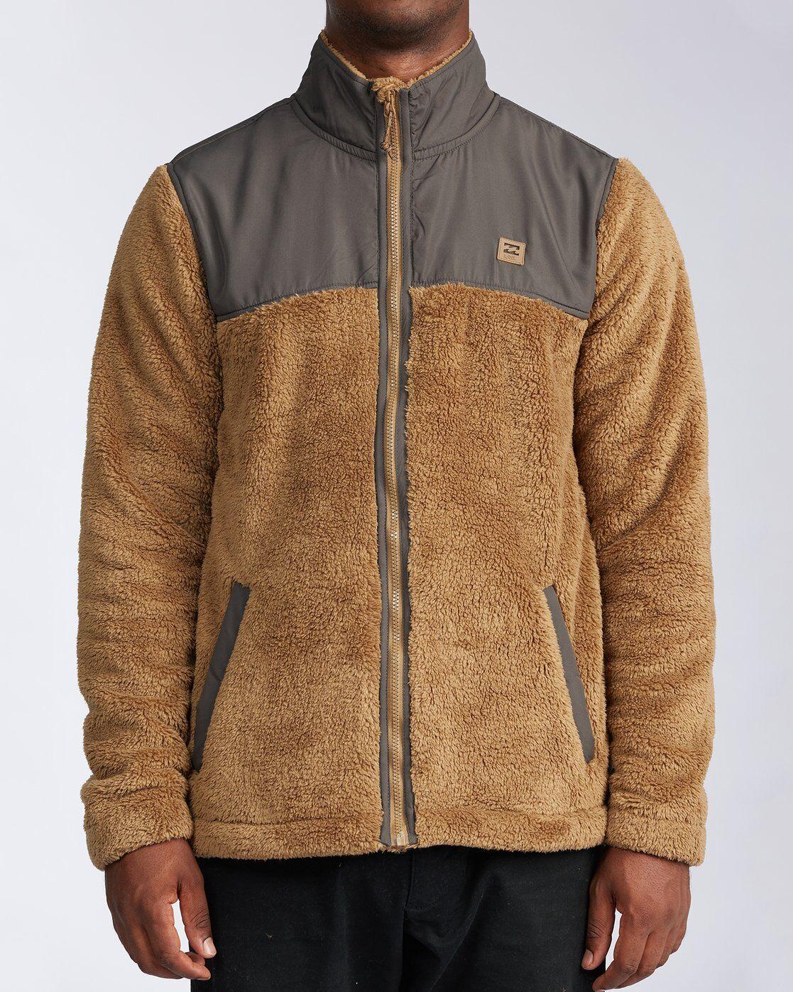 Billabong Flint Zip Jacket  - Brown - Size: Extra Large