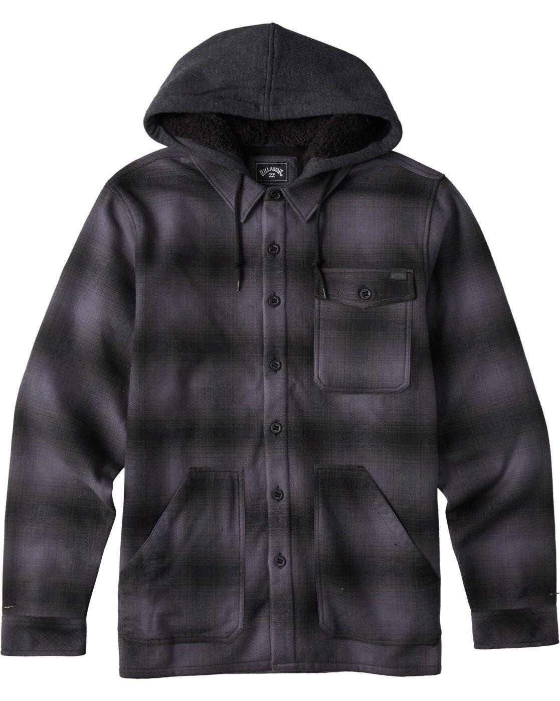 Billabong Furnace Bonded Flannel  - Black - Size: Large