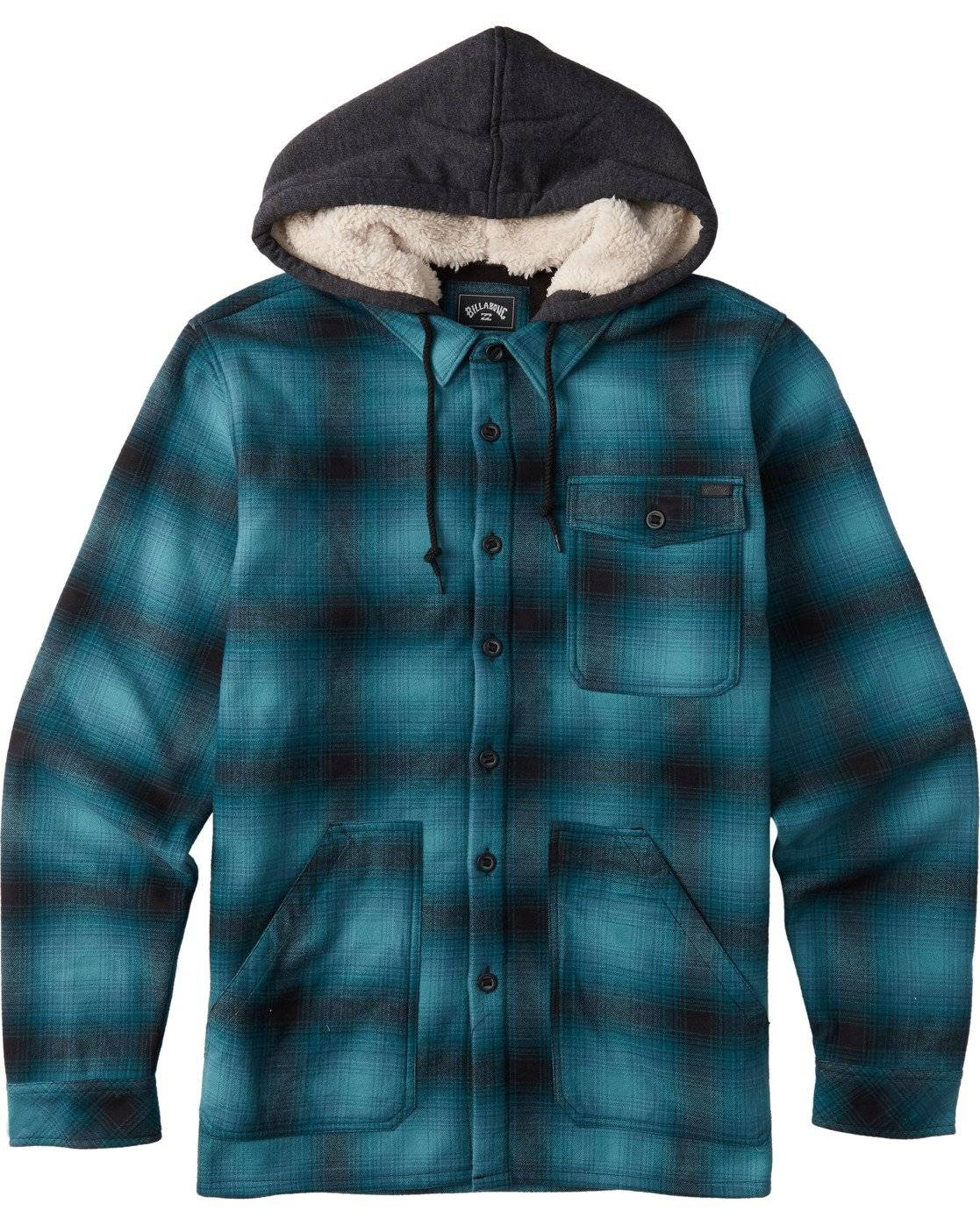 Billabong Furnace Bonded Flannel  - Blue - Size: Large