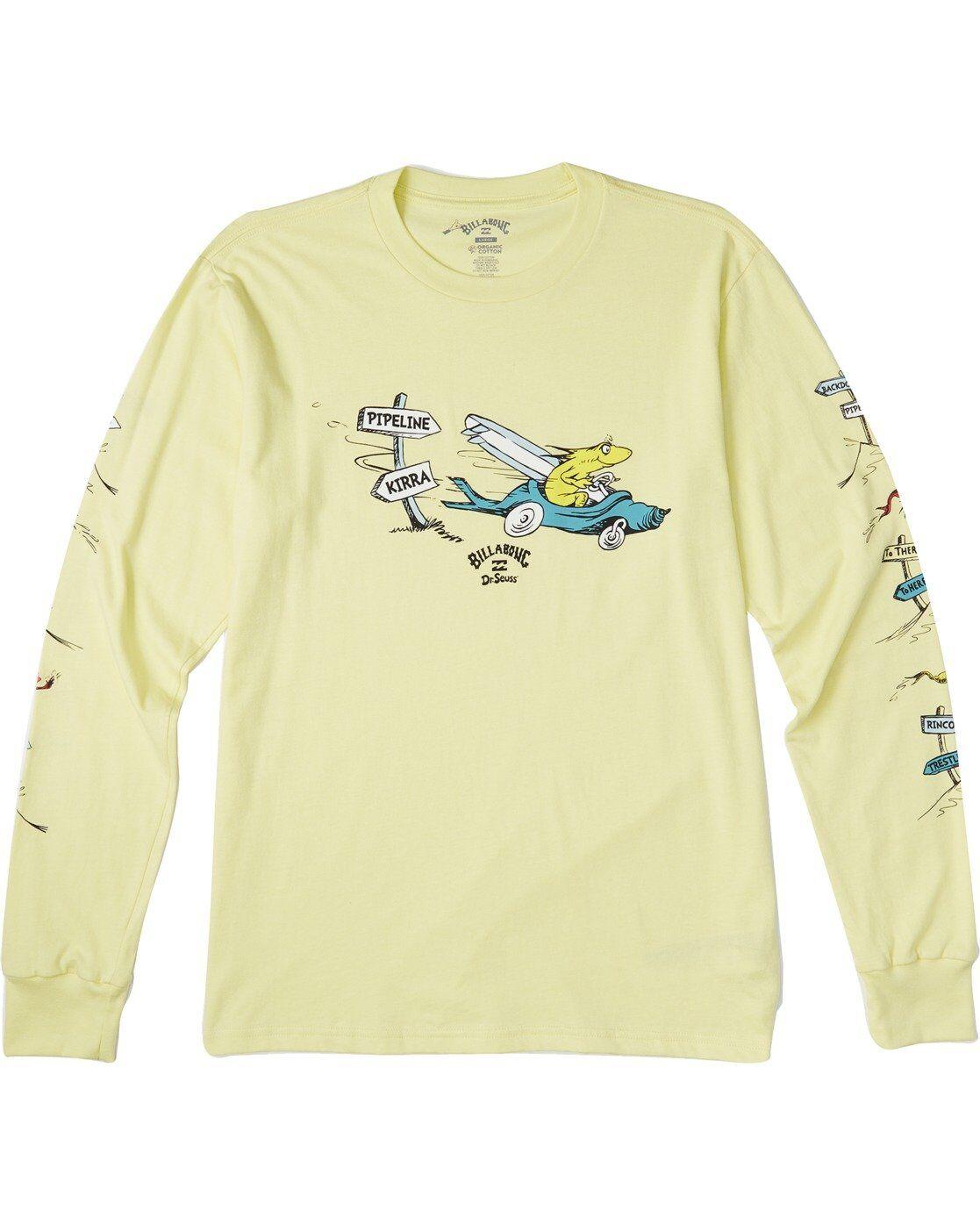 Billabong Boys' Little Car Long Sleeve T-Shirt  - Yellow - Size: Extra Large