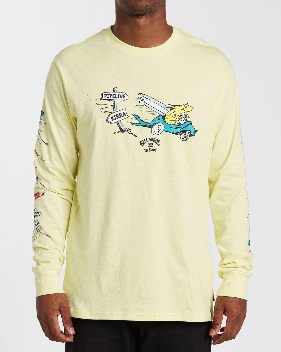 Billabong Little Car Long Sleeve T-Shirt  - Yellow - Size: Small