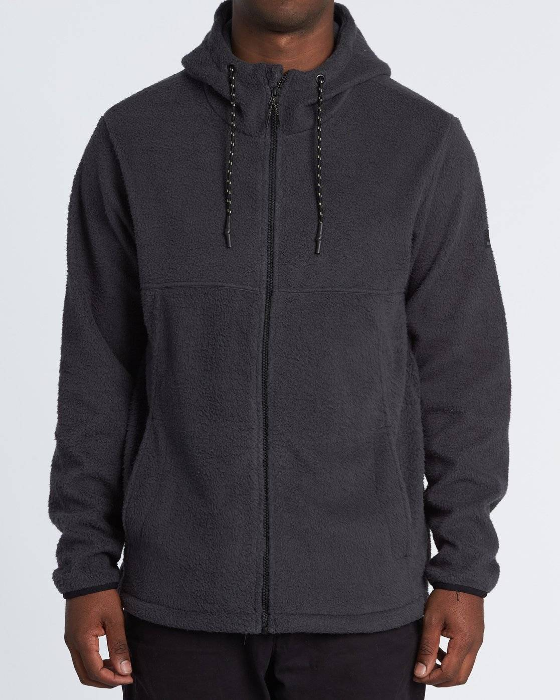 Billabong Boundary Brushed Zip Hoodie  - Black - Size: Small