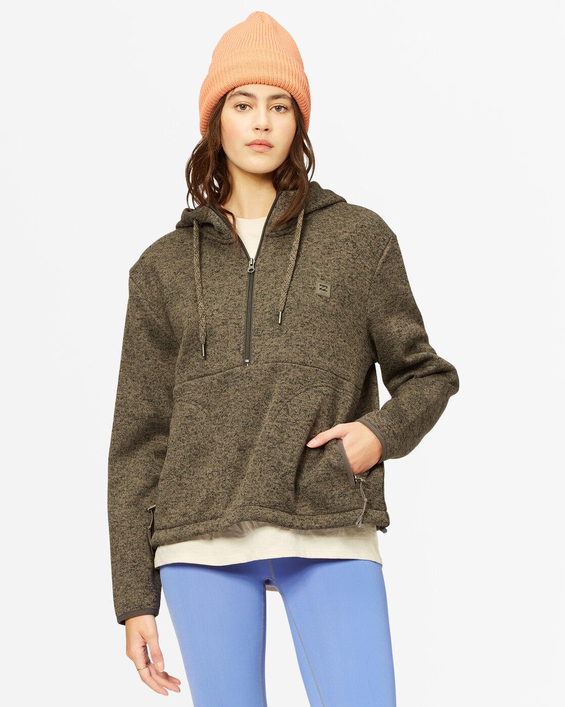 Billabong A/DIV Roam Free Fleece Hoodie  - Orange - Size: Medium