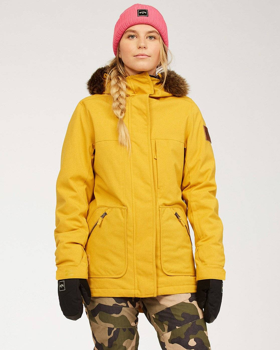 Billabong Women's Into The Forest Snow Jacket  - Brown - Size: Large