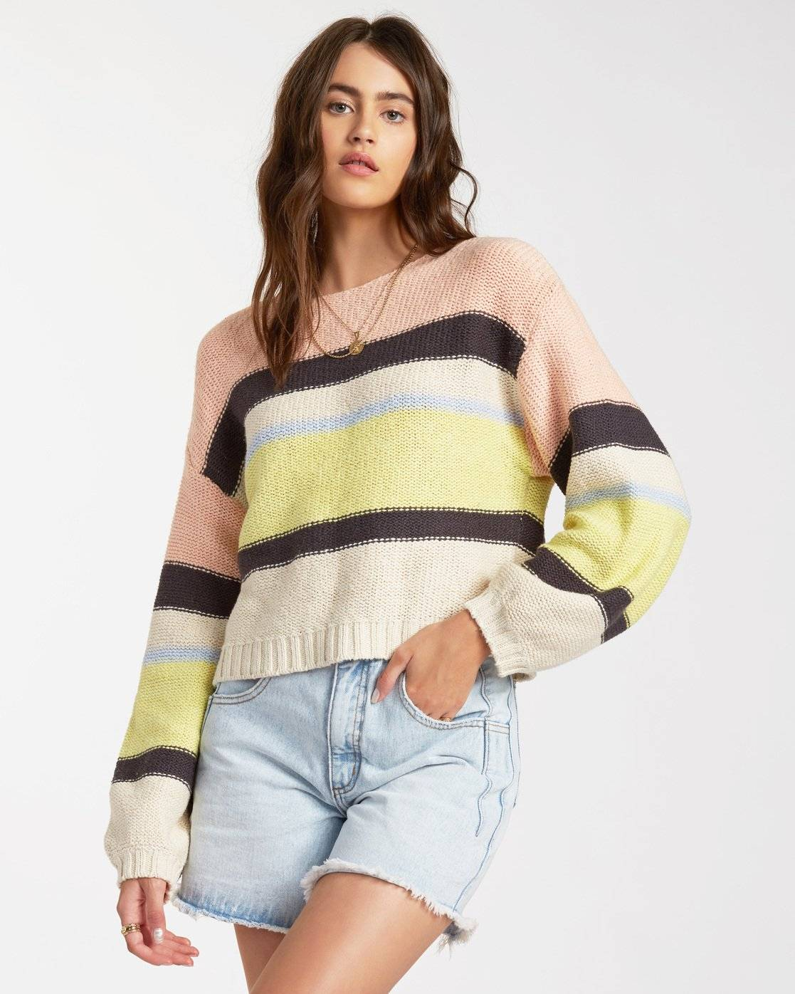 Billabong Seeing Stripes Sweater  - Multicolor - Size: Large