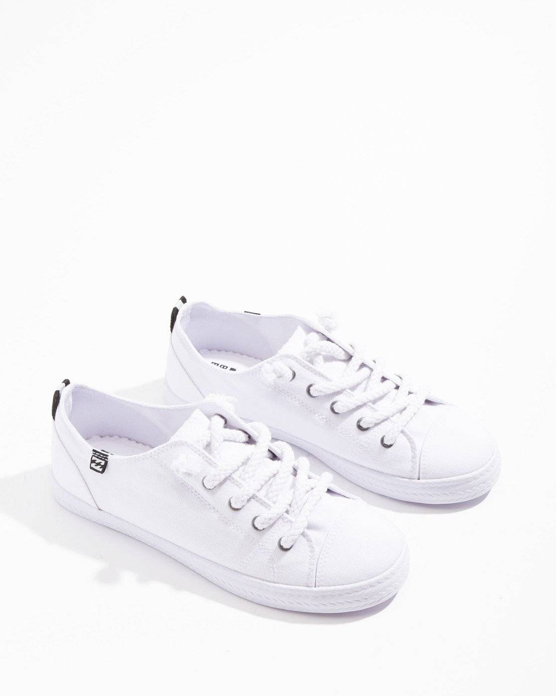 Billabong Marina Canvas Shoes  - White - Size: 9