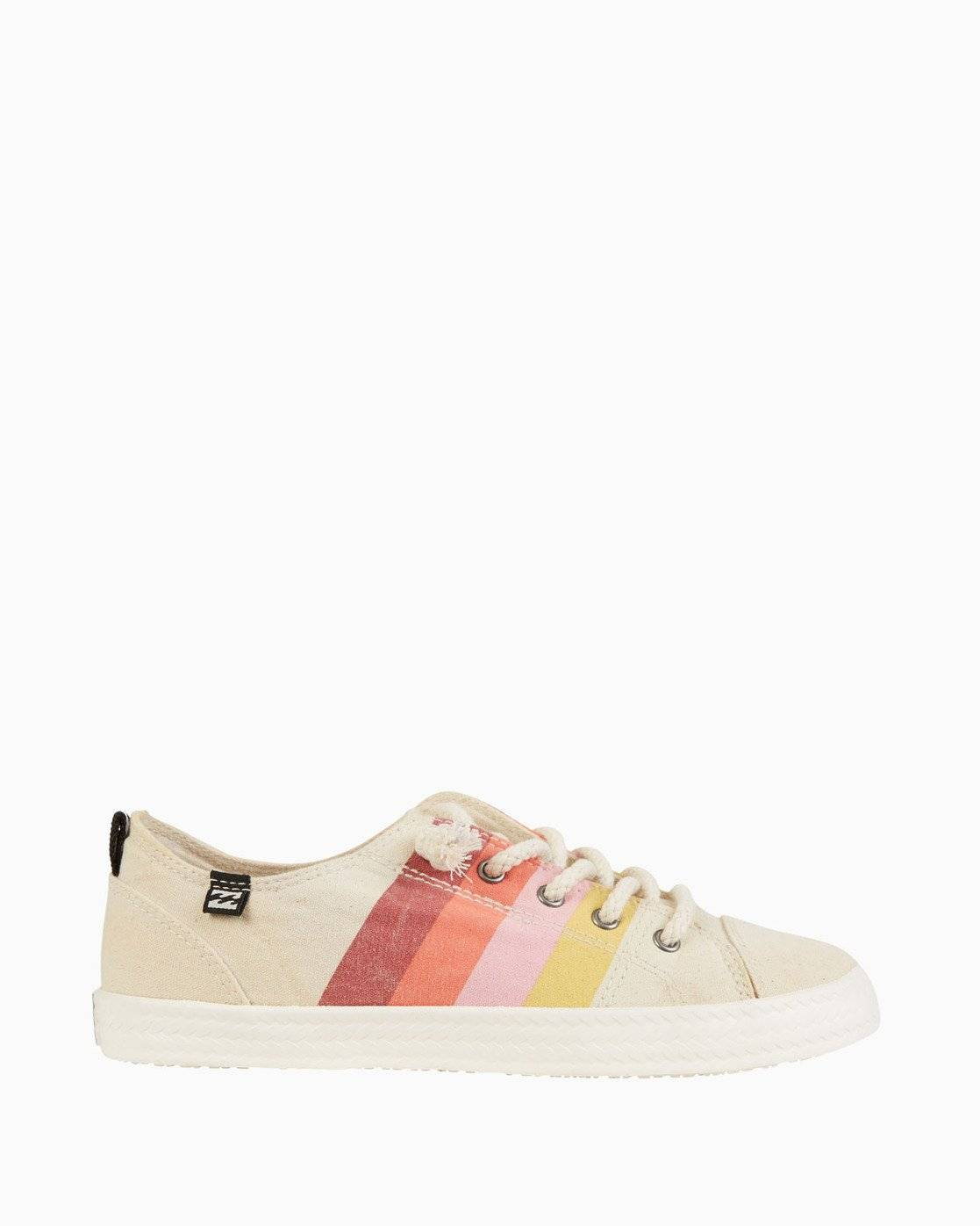 Billabong Marina Canvas Shoes  - Orange - Size: 10