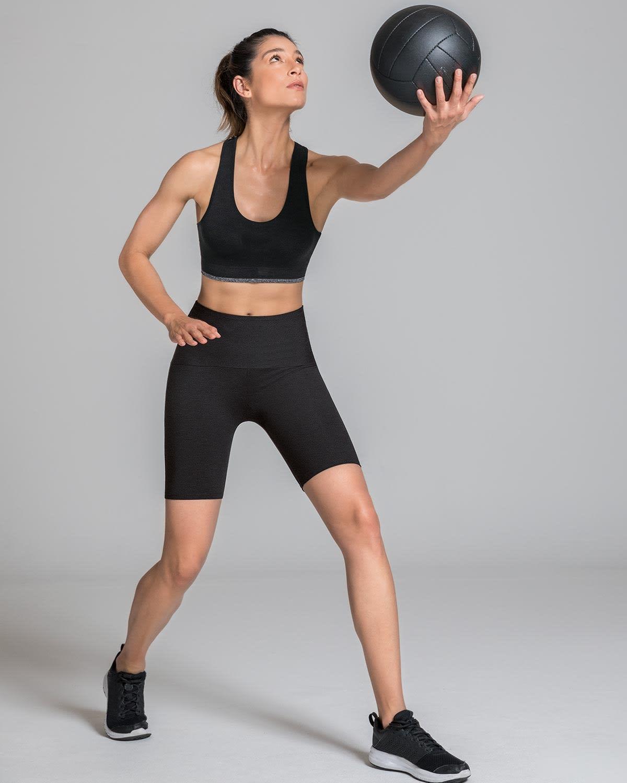Leonisa High-Waisted Knee-Length Shaper Bike Short - ActiveLife
