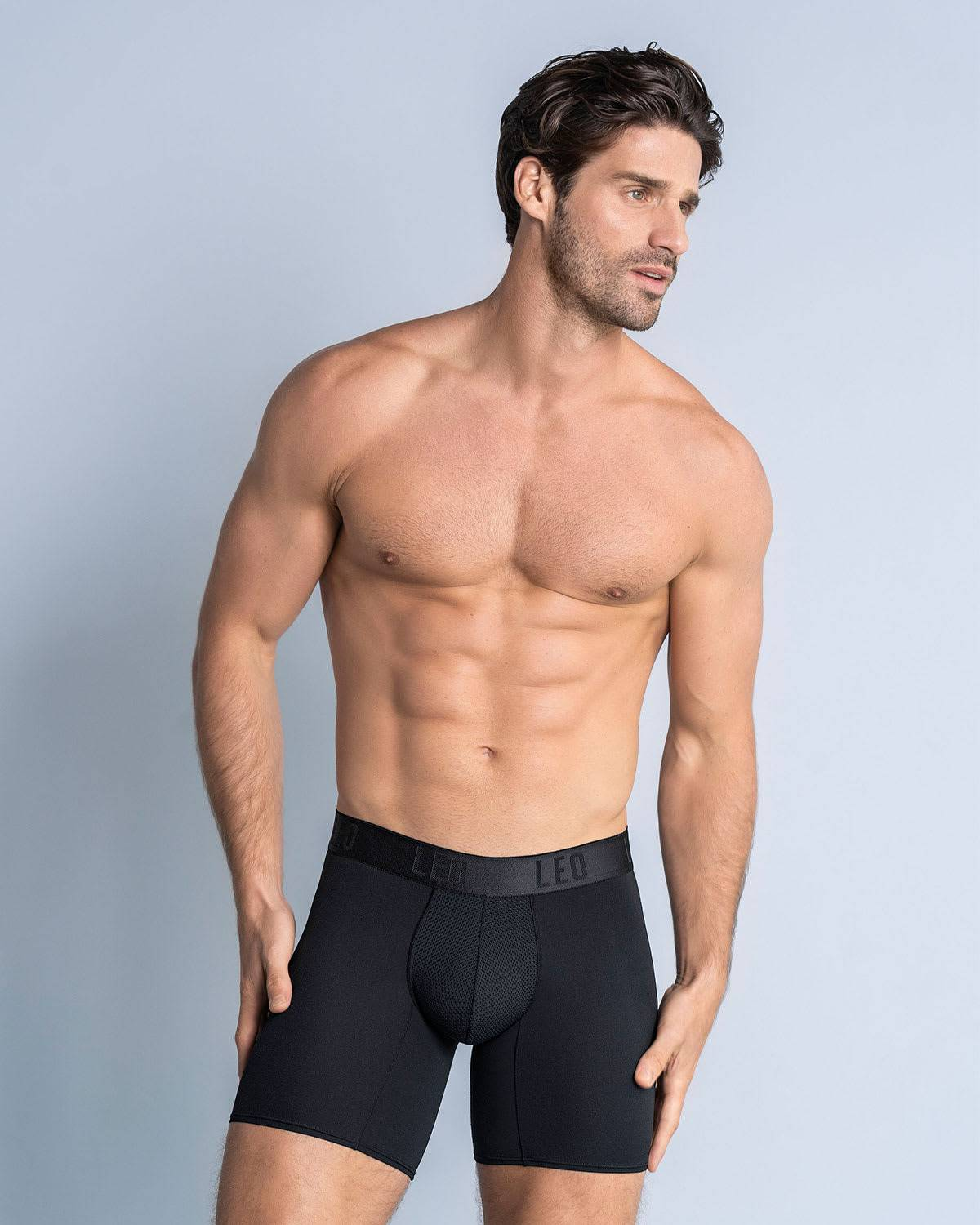LEO Long Athletic Boxer Brief with Side Pocket