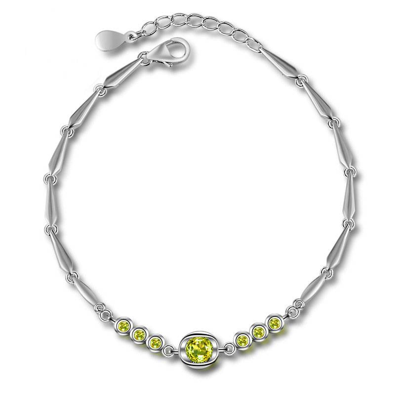 silverbene Fashion nable Simple Elegant Round Fresh 925 Sterling Silver Bracelet