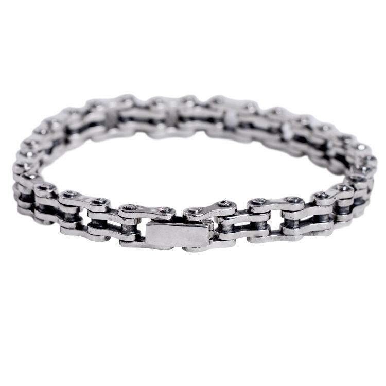silverbene Men's Chain 925 Sterling Silver Bracelet