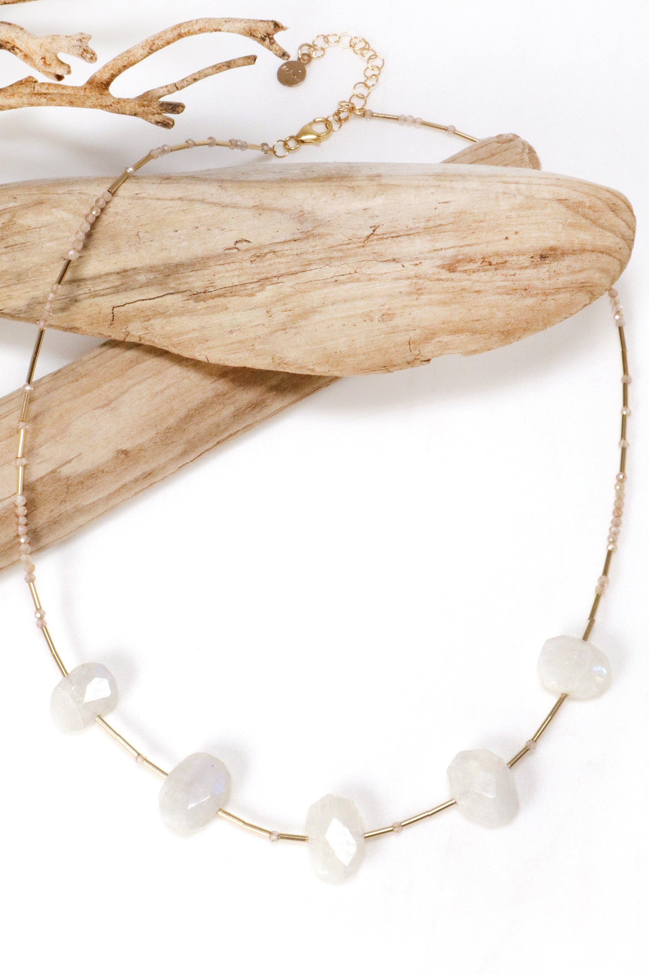 Mickey Lynn Jewelry Moonstone Statement Necklace