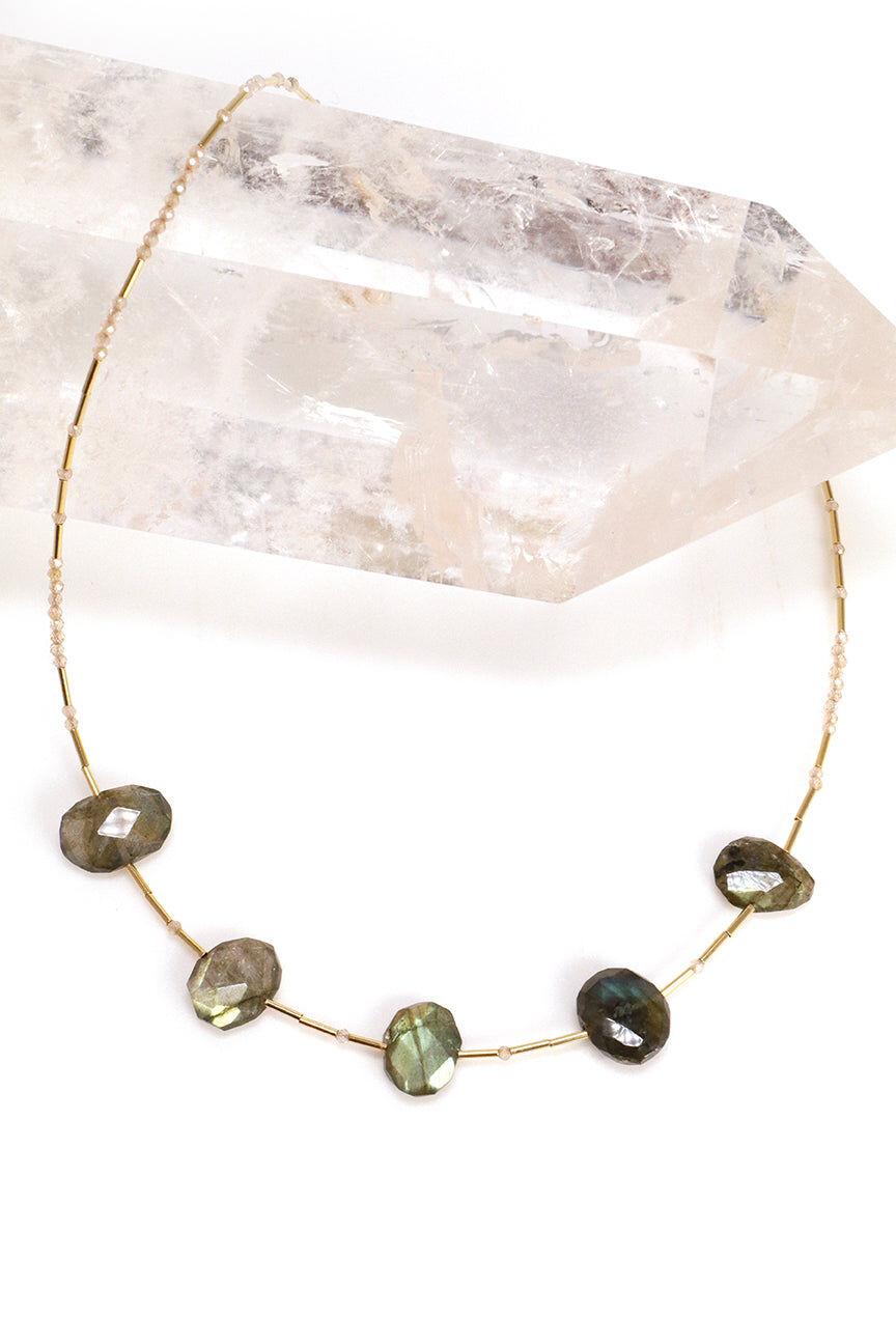 Mickey Lynn Jewelry Labradorite Statement Necklace