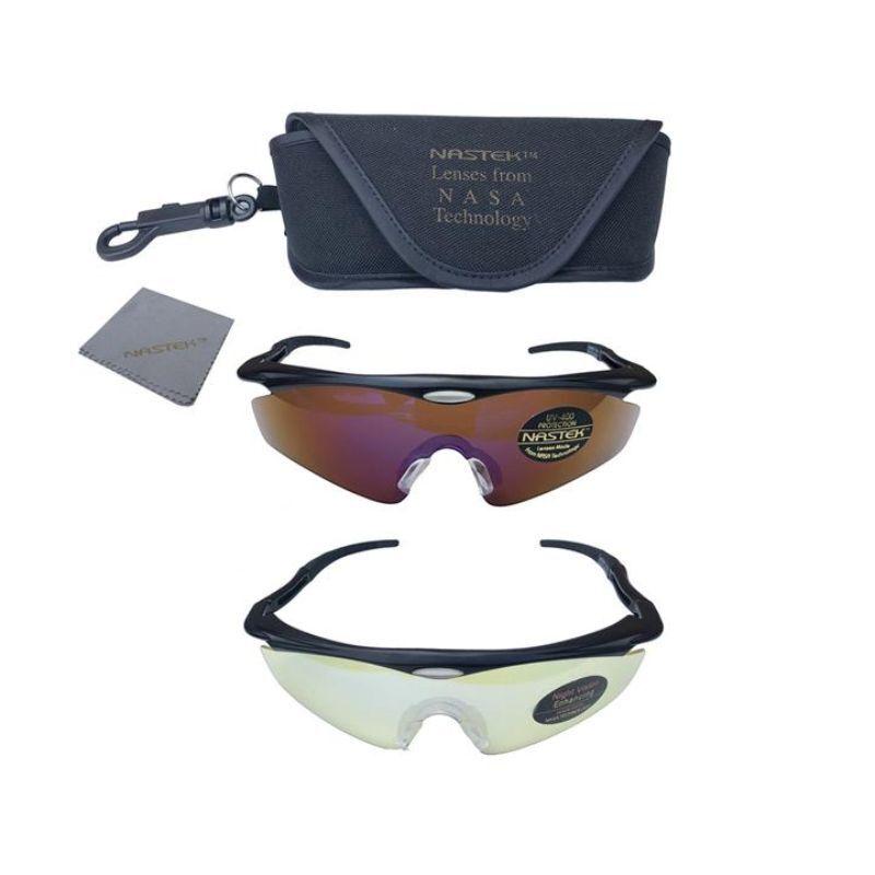 NasTek Sport Sunglasses with UV Protecting Interchangeable Lenses