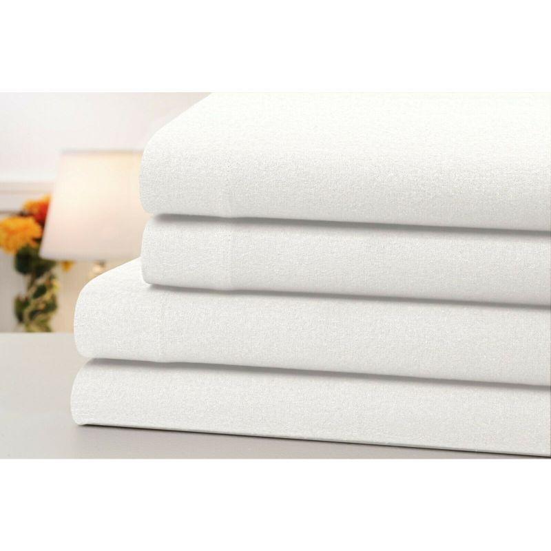 Bibb Home 4-Piece Set: Bibb Home 100% Cotton Solid Flannel Sheets - Assorted Colors