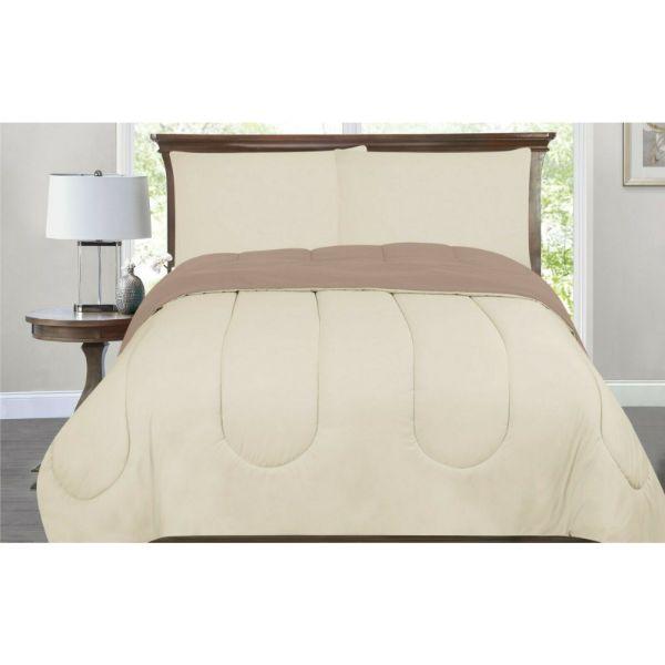 Bibb Home All-Season Down Alternative Reversible 2-Tone Comforter - 4 Colors