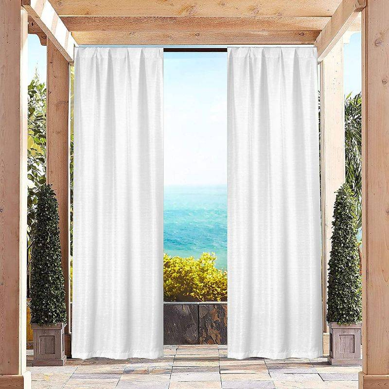 """Generic Heavy-Textured Indoor-Outdoor Blackout Curtains 38x96"""" Pair Panel - 2 Pack"""