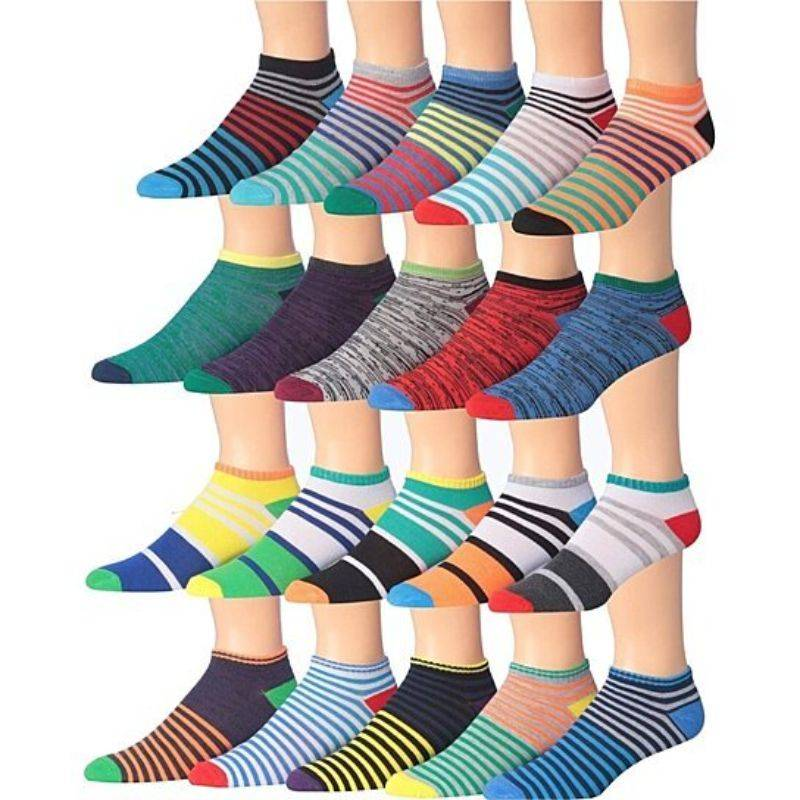 Generic Men's James Fiallo Assorted Performance Low Cut Athletic Sport Socks - 30 Pairs