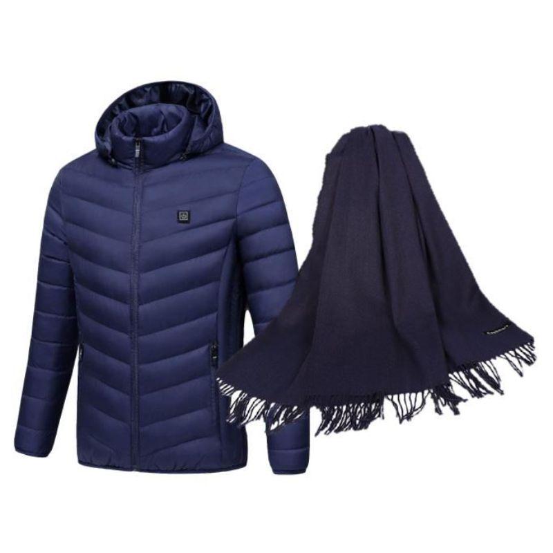 Caldo Heated Women's Jacket and Matching Pashmina Scarf Set