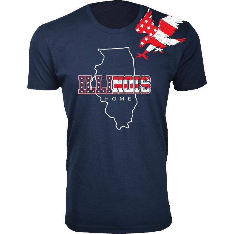 Cotton Thugs Men's Navy American Home State and City USA T-Shirts