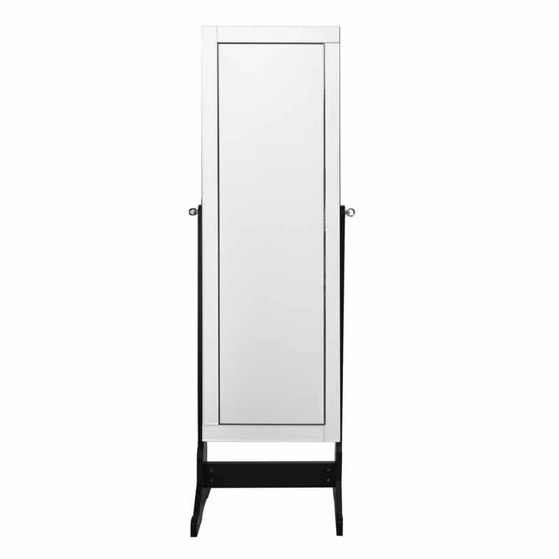 Inspired Home Margaret Jewelry Cheval Armoire Makeup Storage Mirror