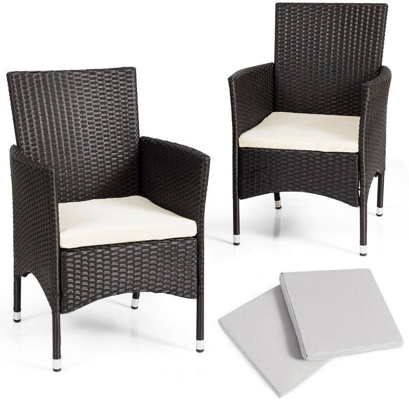 Generic Dining Chairs Set with 2 Cushion Covers- 2 Pieces
