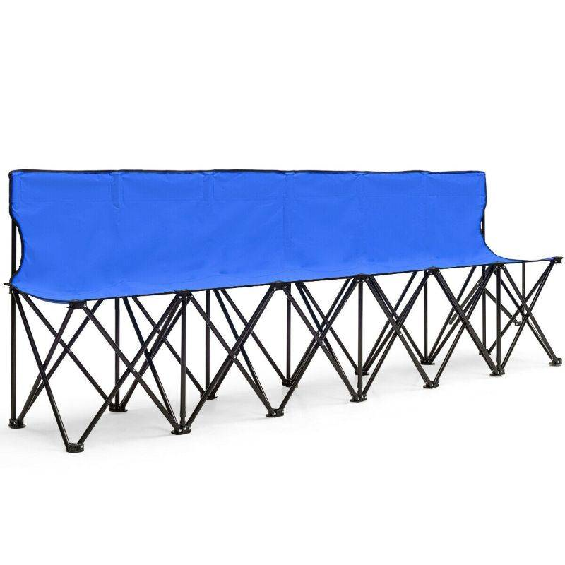 Generic Portable Folding 6 Seat Chair Sideline Sports Bench
