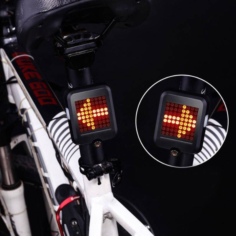 Generic USB Rechargeable Bike Tail Light Smart Bicycle Turn Signal Lights