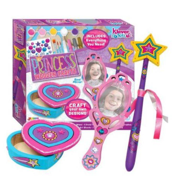 Generic Klever Kits Decorate & Paint Your Wooden Princess Accessories Arts & Craft Kit for Kids