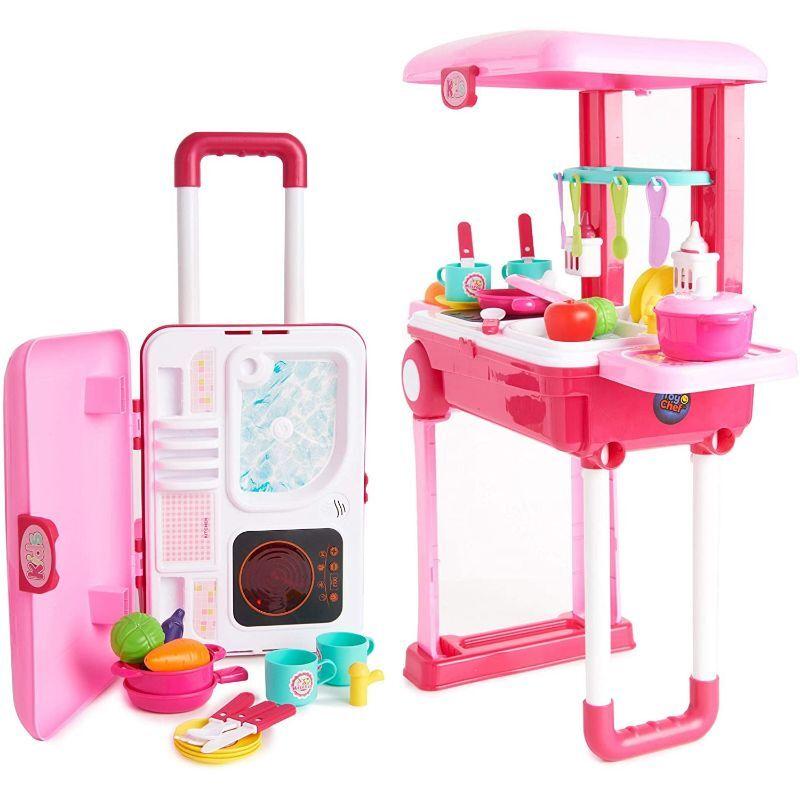 Toy Chef 2-in-1 Travel Suitcase Kitchen Set for Children