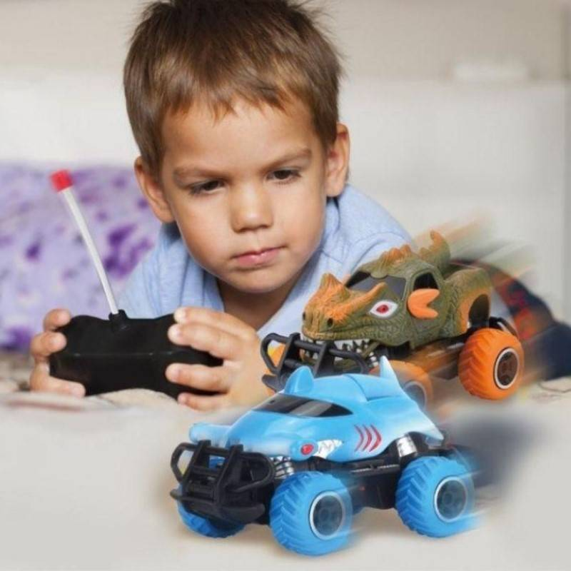 Generic Toy Dinosaur RC Car with Controller - 2 Pack