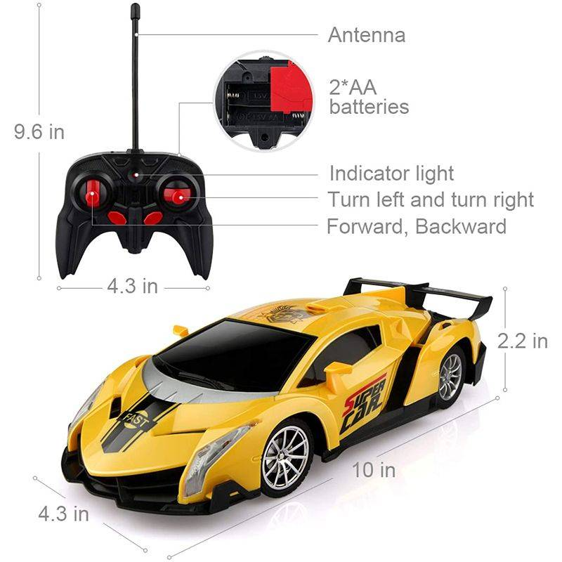 Generic Electric Remote Control Car with Lights and Controller