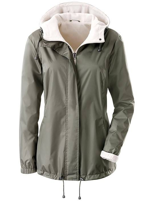 creation L Fleece Lined Outdoor Jacket  - Green - Size: 20