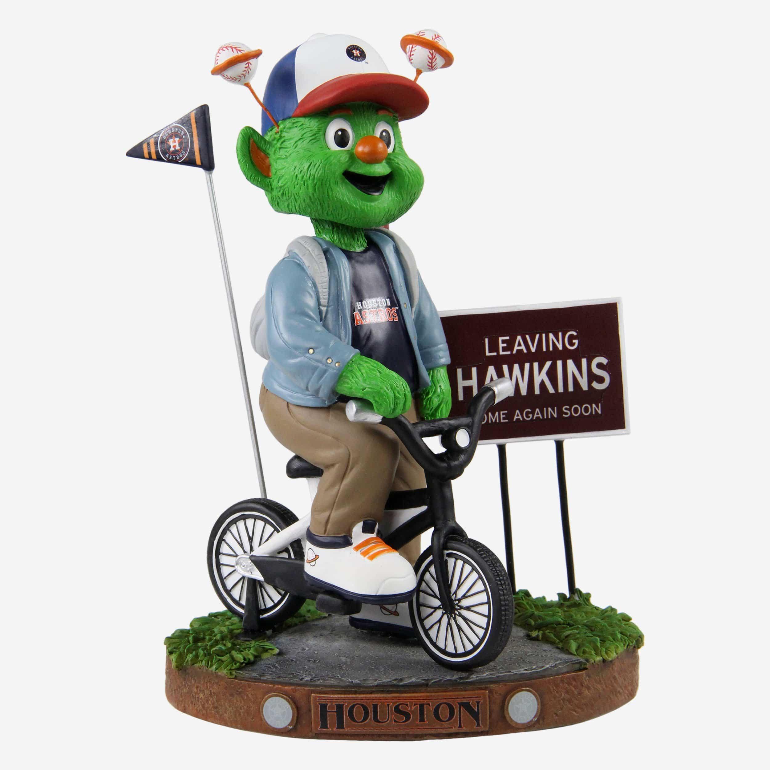 FOCO Orbit Houston Astros Stranger Things Mascot On Bike Bobblehead