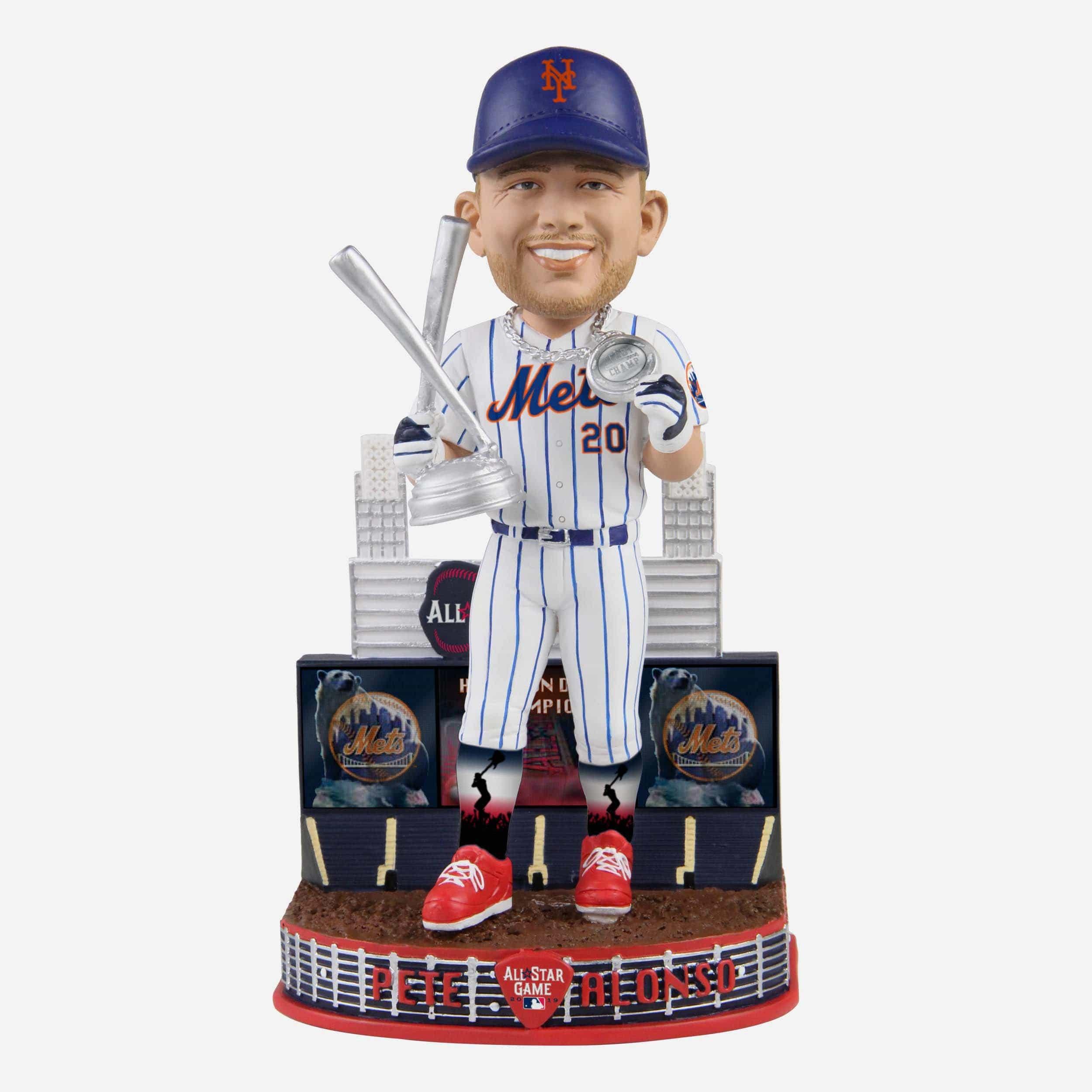 FOCO Pete Alonso New York Mets 2019 Home Run Derby Champion Bobblehead