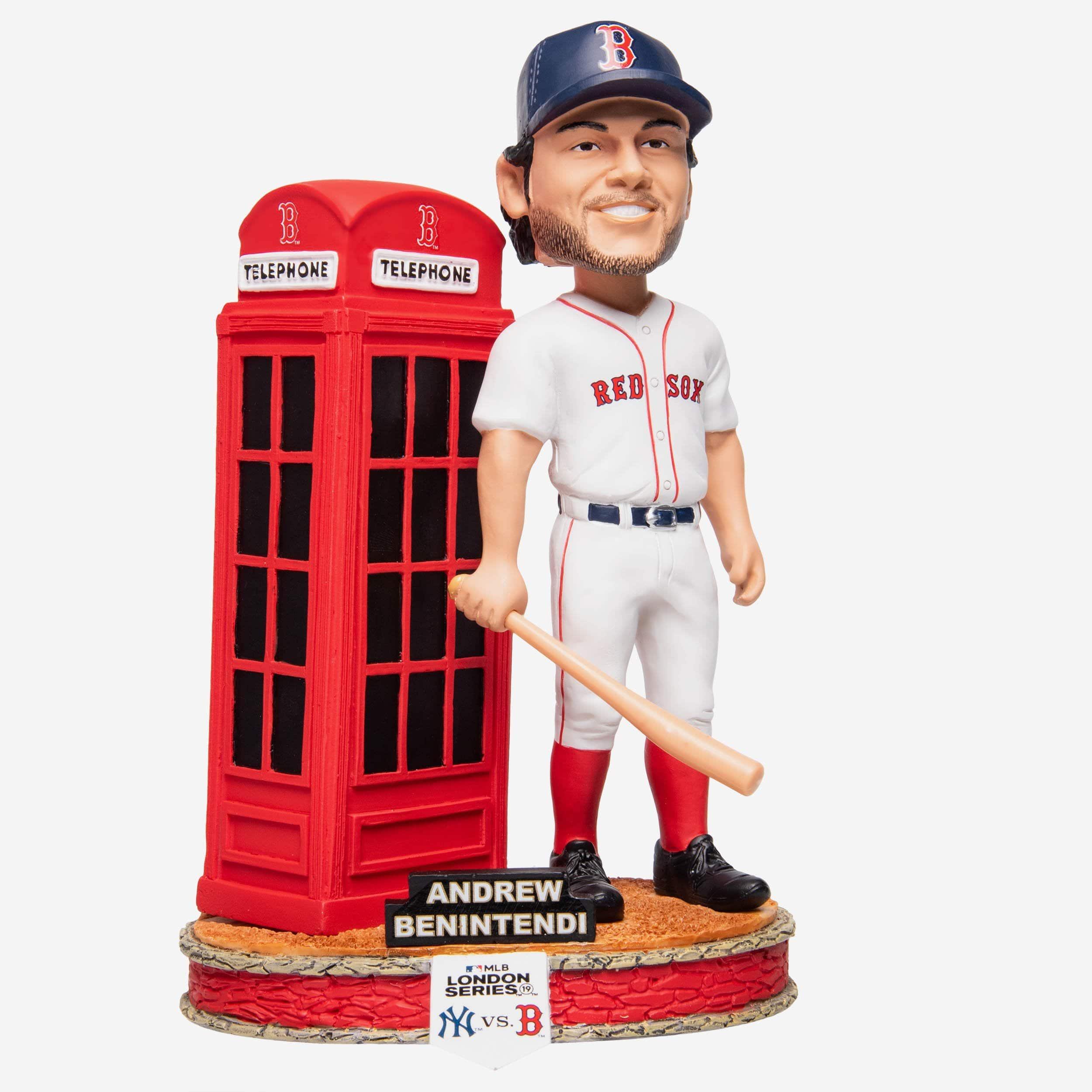 FOCO Andrew Benintendi Boston Red Sox London Series Phone Booth Bobblehead