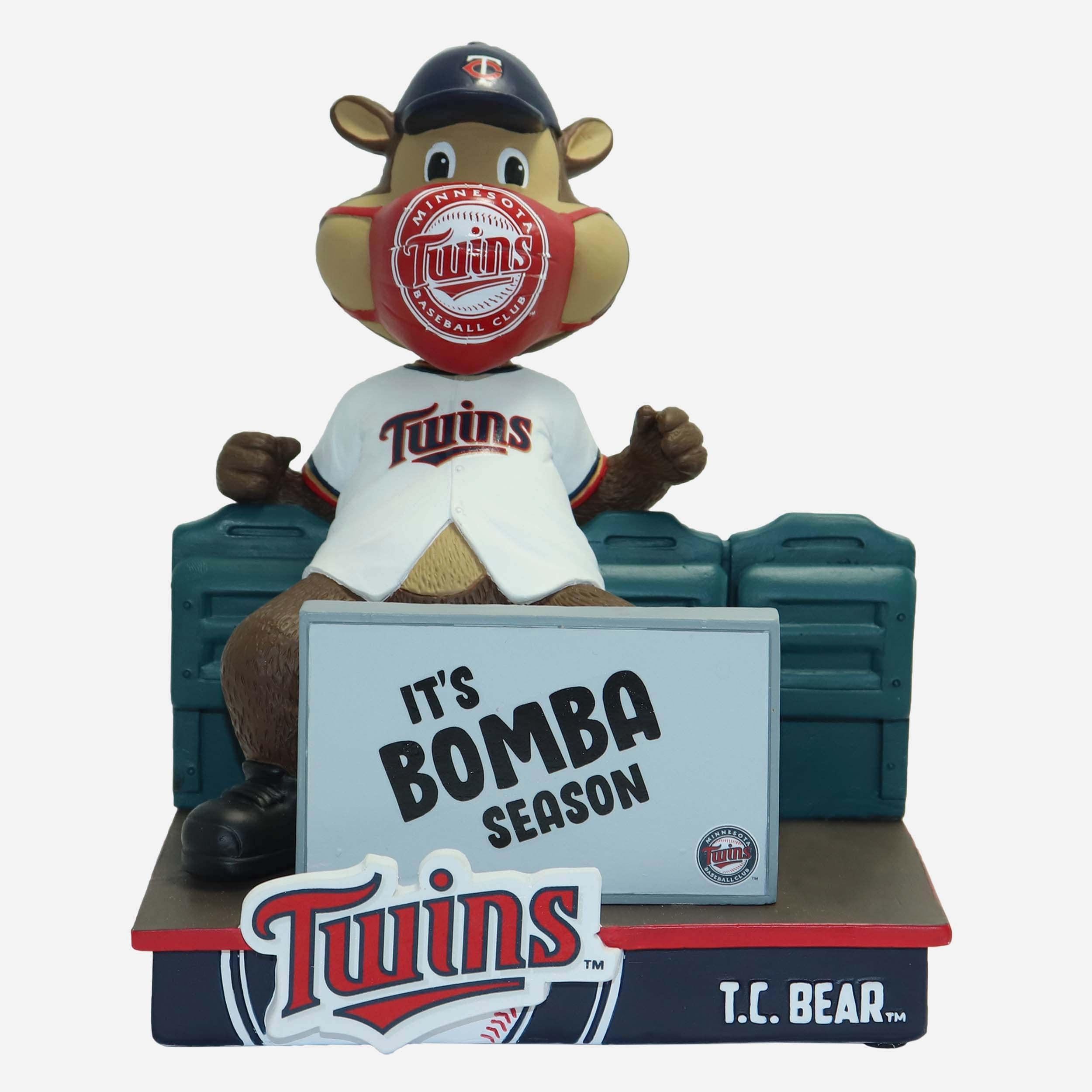FOCO TC Bear Minnesota Twins The Show Goes On Mascot Bobblehead